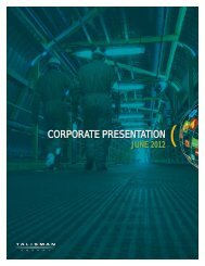 corporate presentation corporate presentation - Talisman Energy Inc.