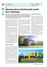 Mezinárodní architektonická soutěž Zero Challenge - Ytong