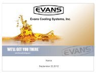 Evans Cooling Systems, Inc. - Narsa