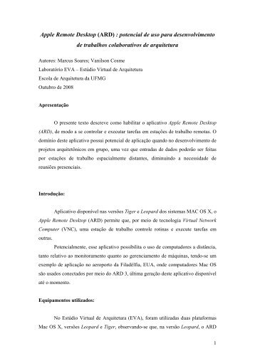 Apple Remote Desktop.pdf - Escola de Arquitetura - UFMG
