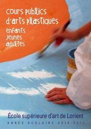 cours publics d , arts plastiques - ESA de Lorient