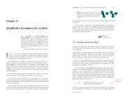 Qualitative dynamics, for cyclists - ChaosBook