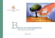 Bilancio di Sostenibilità 2009 - Consorzio cooperative costruzioni