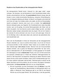 1 Reaktionen des Einzelhandels auf den demographischen Wandel Der ...
