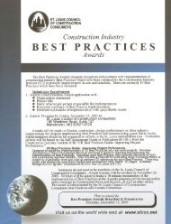 BEST PRACTICES - the St. Louis Council of Construction Consumers