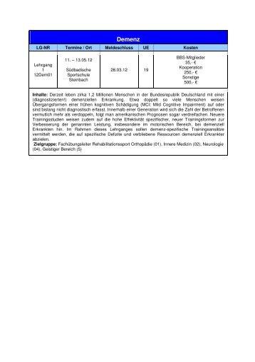 Anmeldeformular 2012 Lehrgänge des ... - Badischer Behinderten