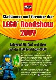 Spielspaß für Groß und Klein auf der  LEGO Roadshow 2009!