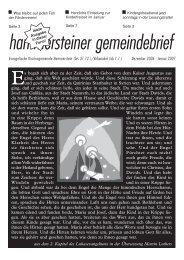 Januar 2007 - Evangelische Kirchengemeinde Vohwinkel