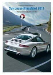 Saisonabschlussfahrt 2011 - Porsche Club CMS