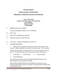 indiana board of firefighting personnel standards ... - State of Indiana