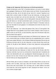 Erfahrungen und Anspiel zum Vaterunser - Hoffnungskirche zu ...