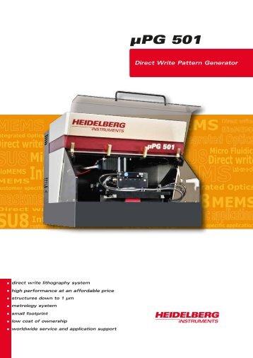 Download Fact Sheet µPG 501 - Heidelberg Instruments