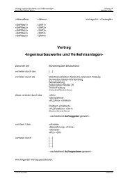 Vertrag -Ingenieurbauwerke und Verkehrsanlagen-