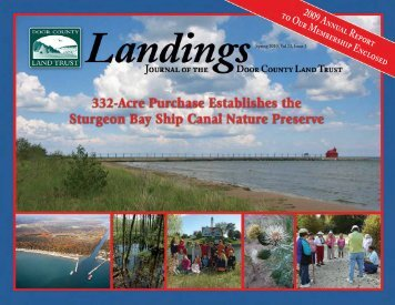 Landings- Spring 2010 - Door County Land Trust