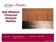Hull Offshore Financial Analysis Update 10-13-2012 - Town of Hull
