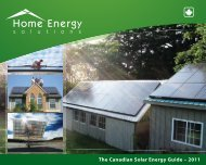 The Canadian Solar Energy Guide – 2011 - Home Energy Solutions