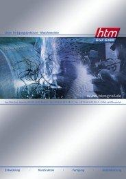 Unser Fertigungsspektrum - Maschinenliste ... - bei HTM Graf GmbH