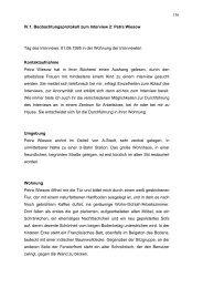 156 IV.1. Beobachtungsprotokoll zum Interview 2: Petra Wiesow Tag ...