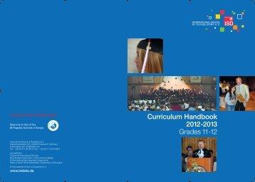 Curriculum Handbook 2012-2013 Grades 11-12 - International ...