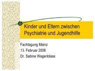 Kinder und Eltern zwischen Psychiatrie und Jugendhilfe - ism