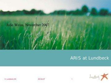 ARIS at Lundbeck