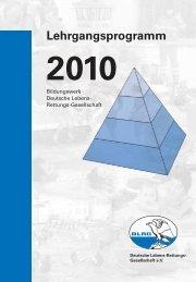 Lehrgangsprogramm 2010 - TYPO3 Login: DLRG  - TV - DLRG