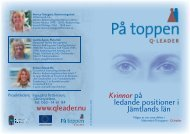 Kvinnor på ledande positioner i Jämtlands län www ... - Smelink