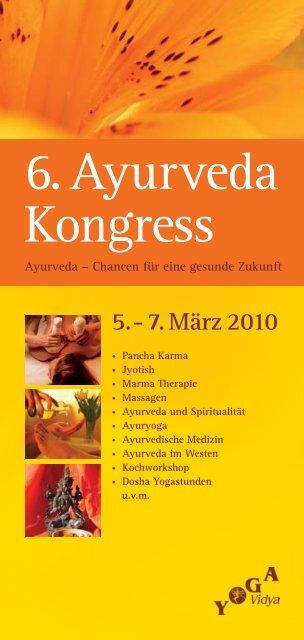 6. Ayurveda Kongress - Yoga Vidya