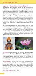 6. Ayurveda Kongress - Yoga Vidya - Seite 2