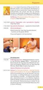 6. Ayurveda Kongress - Yoga Vidya - Seite 5