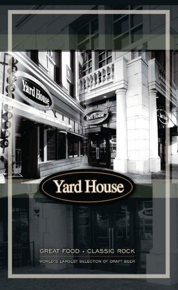 yardhouse beer menu - Yard House Restaurants