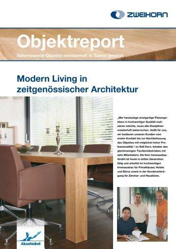 Modern Living in zeitgenössischer Architektur ... - Zweihorn