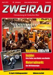 Nachlese: BIKE&FUN Insider: Motorradmarkt: - ZWEIRAD-online
