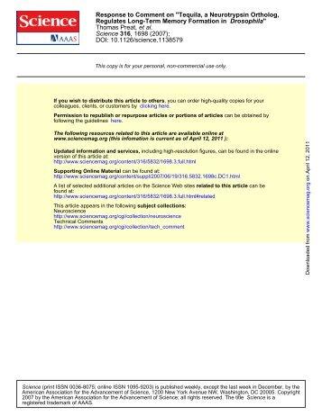 DOI: 10.1126/science.1138579 , 1698 (2007); 316 Science , et al ...