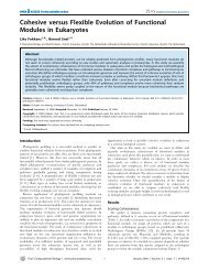 Cohesive versus Flexible Evolution of Functional Modules in ...