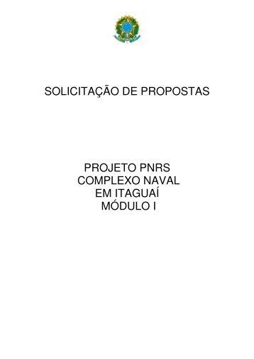 SOLICITAÇÃO DE PROPOSTAS PROJETO PNRS COMPLEXO ...