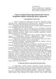 Lietuvos standartizacijos departamento prie Lietuvos Respublikos ...