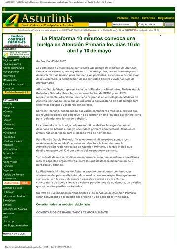 La Plataforma 10 minutos convoca una huelga en Atención Primaria ...