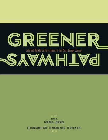 Jobs and Workforce Development in the Clean ... - GreenBiz.com