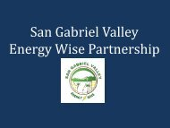 San Gabriel Valley Energy Wise Partnership Best Practices Forum