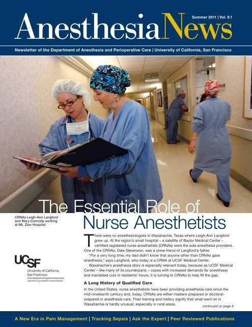 AnesthesiaNews - UCSF Department of Anesthesia and