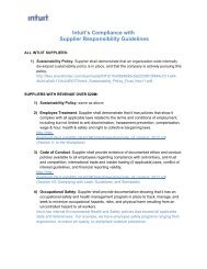 Supplier Responsibility Guidelines - Intuit