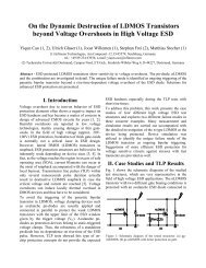 On the Dynamic Destruction of LDMOS Transistors beyond Voltage ...