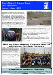 Term 3 Newsletter 2012-13 - February 2013 - Queen Elizabeth's ...