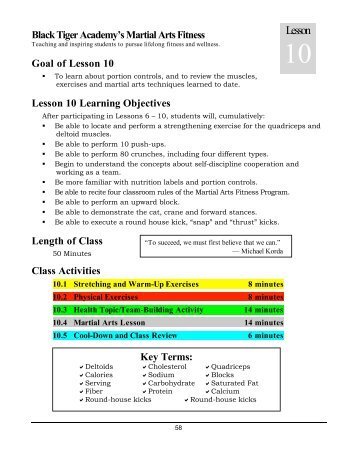 Lesson 4 Physical Education For Body Mind And Spirit