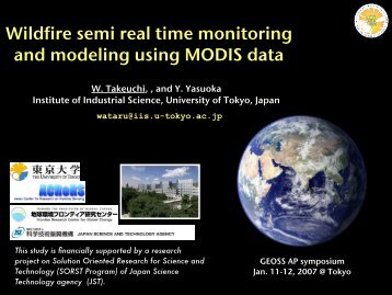 Wildfire semi real time monitoring and modeling using MODIS data
