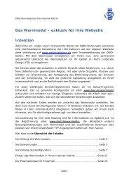 Das Warnmodul – exklusiv für Ihre Webseite Intention - Windinfo.eu
