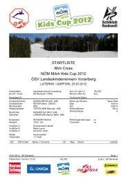 STARTLISTE Mini Cross NÖM Milch Kids Cup 2012 ÖSV ...