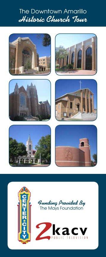 Downtown Amarillo Historic Church Tour (PDF - 1.5MB)