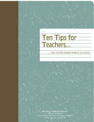 Ten Tips for teachers